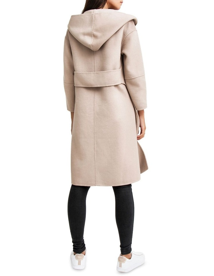Walk This Way Sand Wool Blend Oversized Coat image 3