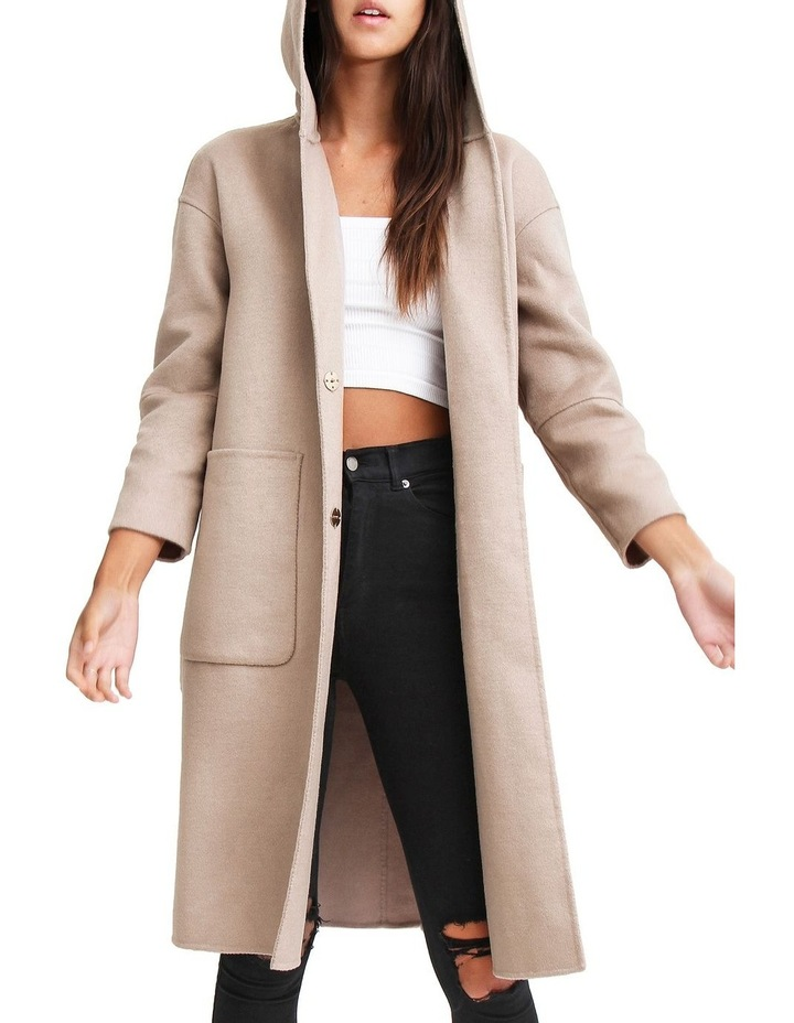 Walk This Way Sand Wool Blend Oversized Coat image 4