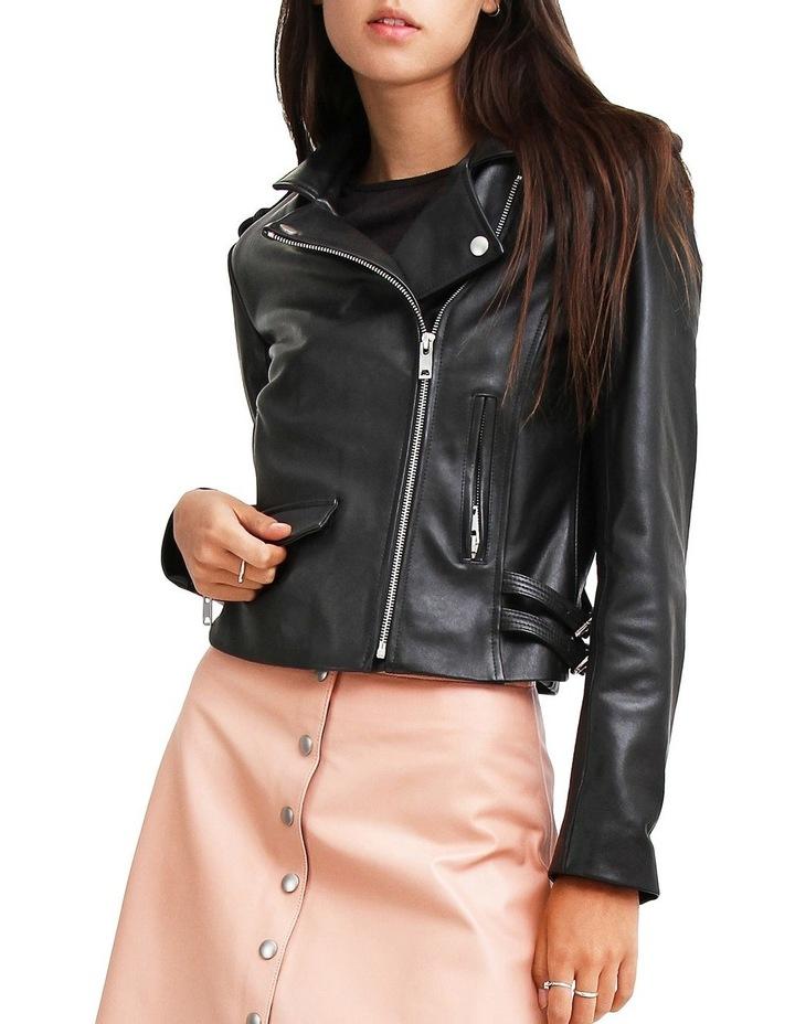 Just Friends JUF100BLK Black Leather Jacket image 1