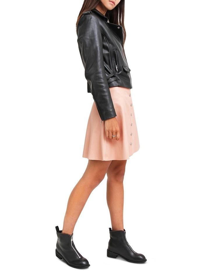 Just Friends JUF100BLK Black Leather Jacket image 4