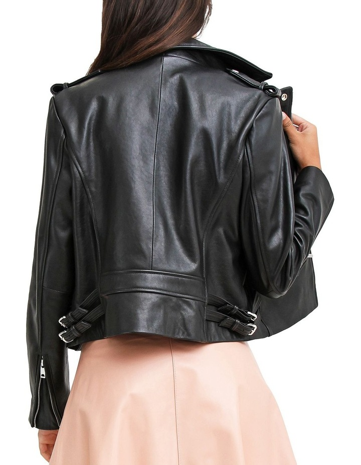 Just Friends JUF100BLK Black Leather Jacket image 5
