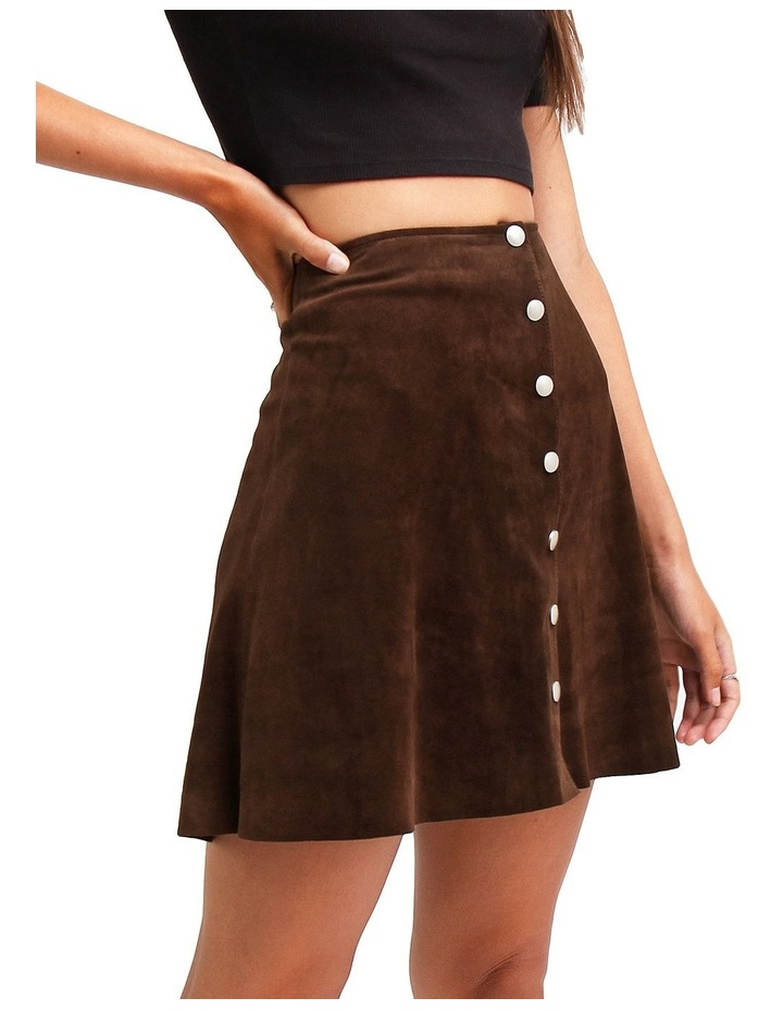 Into The Woods Hot Chocolate Leather Mini Skirt image 2