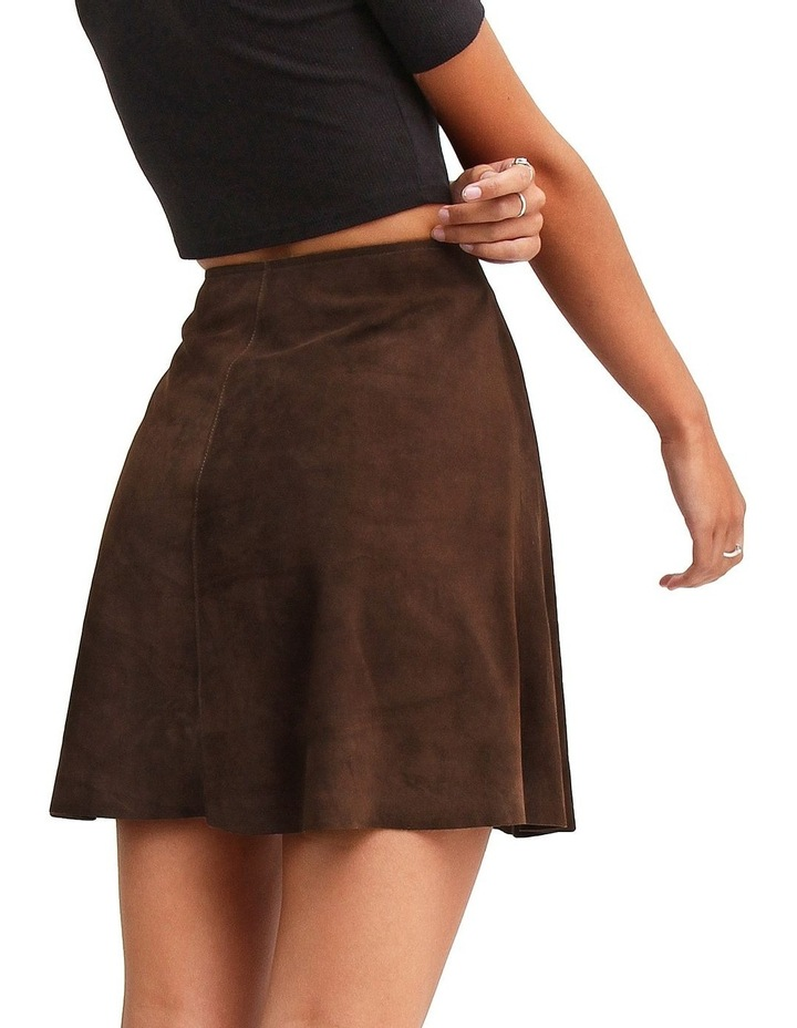 Into The Woods Hot Chocolate Leather Mini Skirt image 3