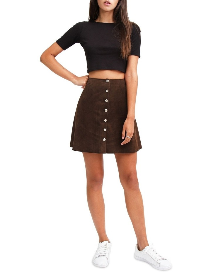 Into The Woods Hot Chocolate Leather Mini Skirt image 4