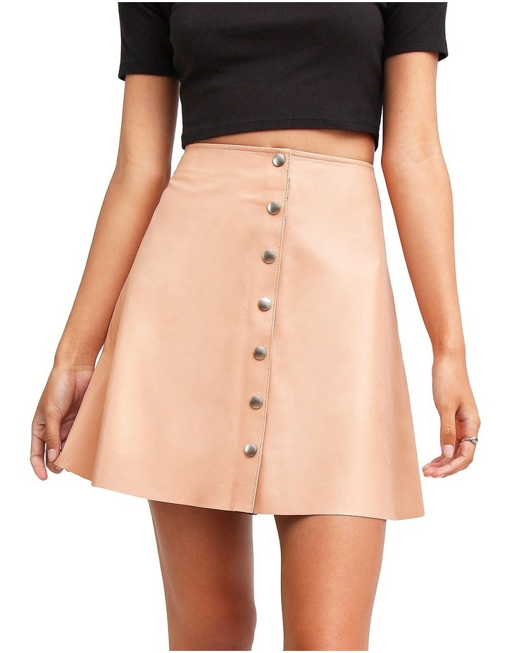 Into The Woods Blush Leather Mini Skirt image 1
