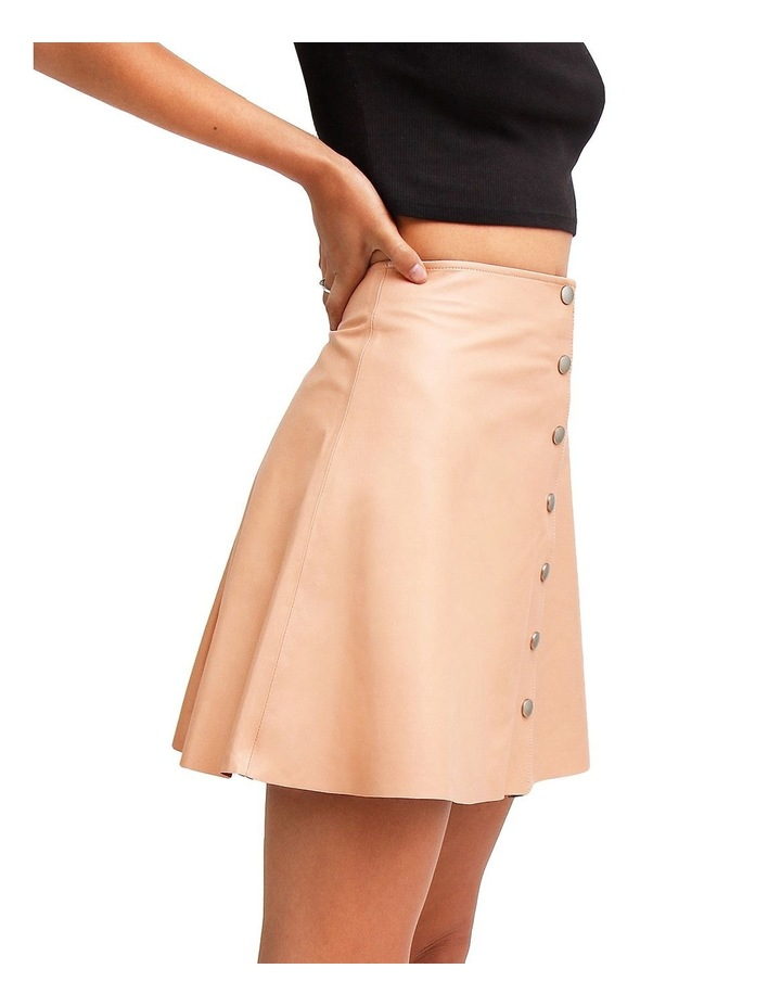 Into The Woods Blush Leather Mini Skirt image 2