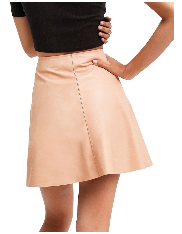 Into The Woods Blush Leather Mini Skirt image 3
