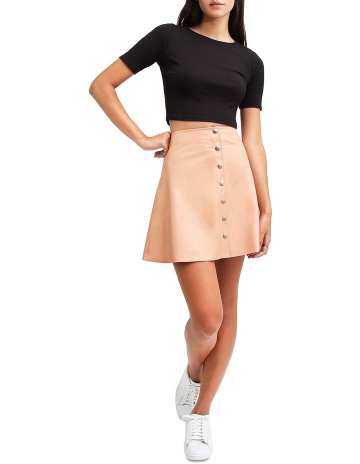 Into The Woods Blush Leather Mini Skirt image 4