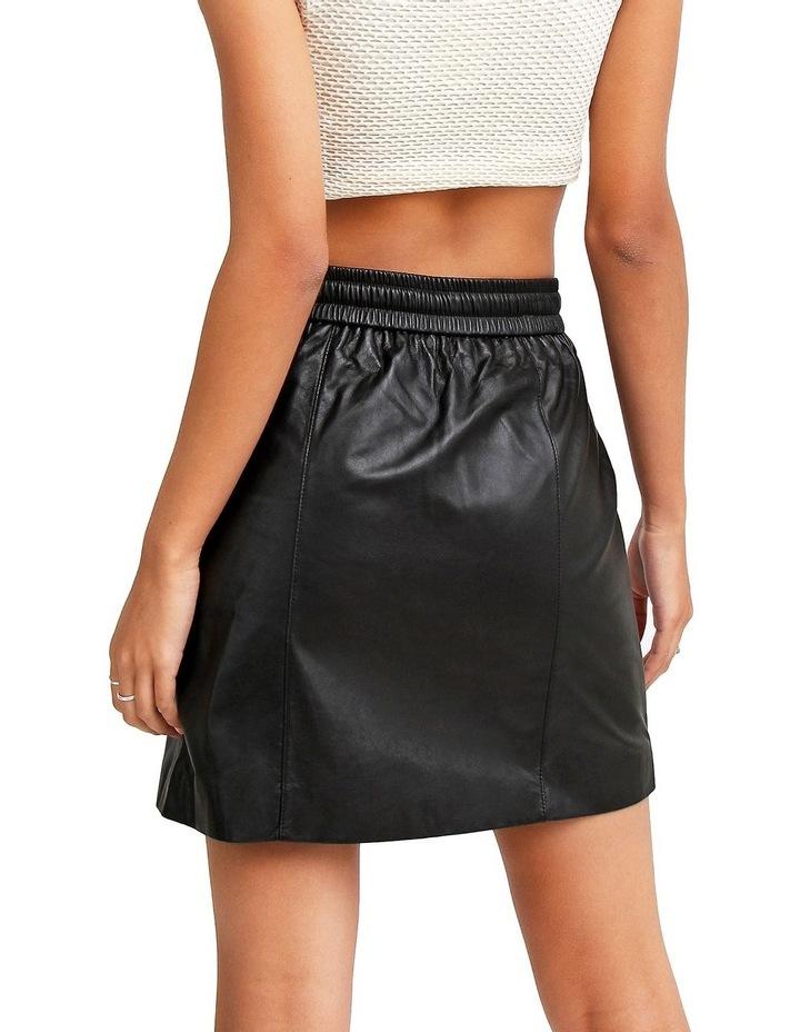 Midnight Magic Black Leather Mini Skirt image 3