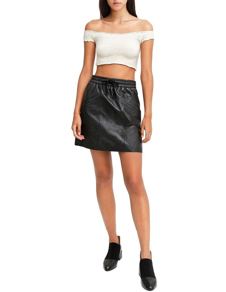 Midnight Magic Black Leather Mini Skirt image 4