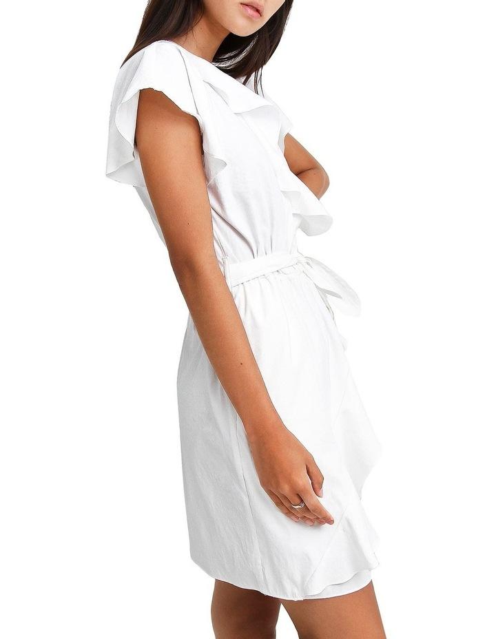 Best Selfie white Ruffle Dress image 2