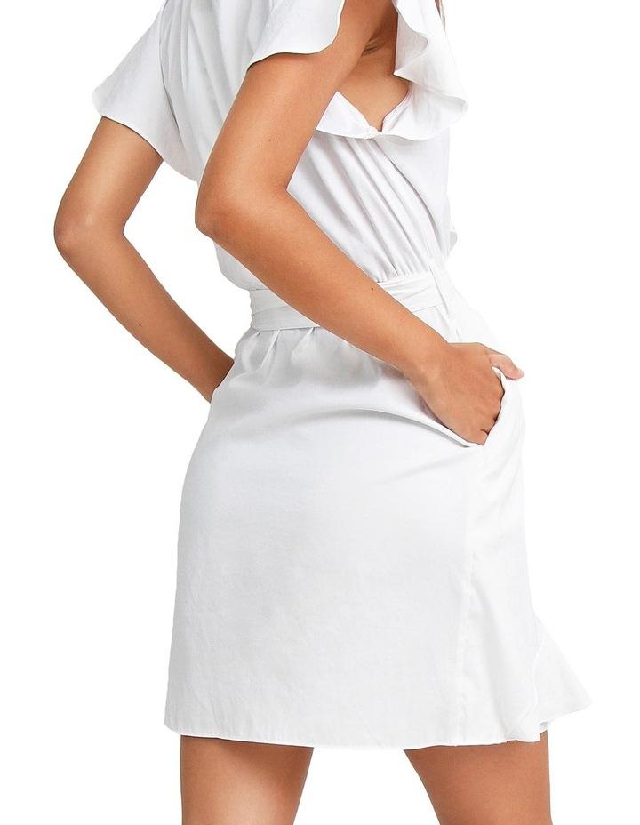 Best Selfie white Ruffle Dress image 5