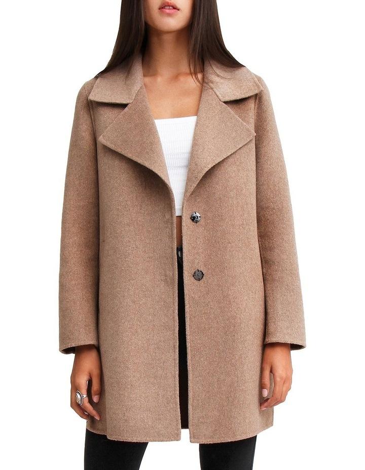 Ex-Boyfriend Oat Wool Blend Oversized Jacket image 1