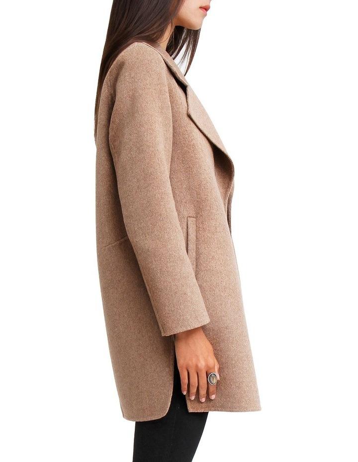 Ex-Boyfriend Oat Wool Blend Oversized Jacket image 2