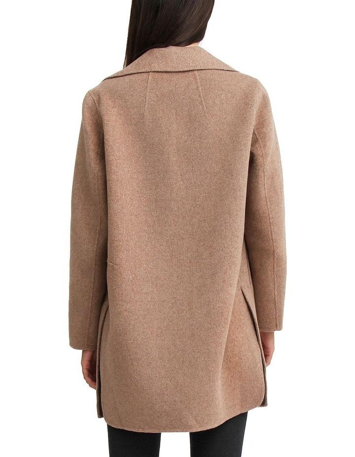Ex-Boyfriend Oat Wool Blend Oversized Jacket image 3