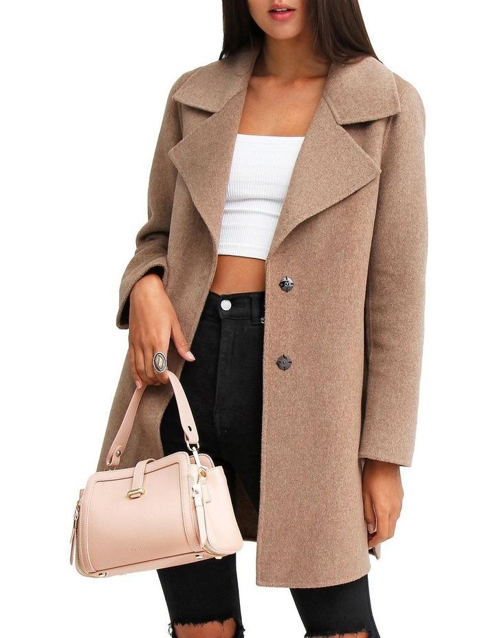 Ex-Boyfriend Oat Wool Blend Oversized Jacket image 4