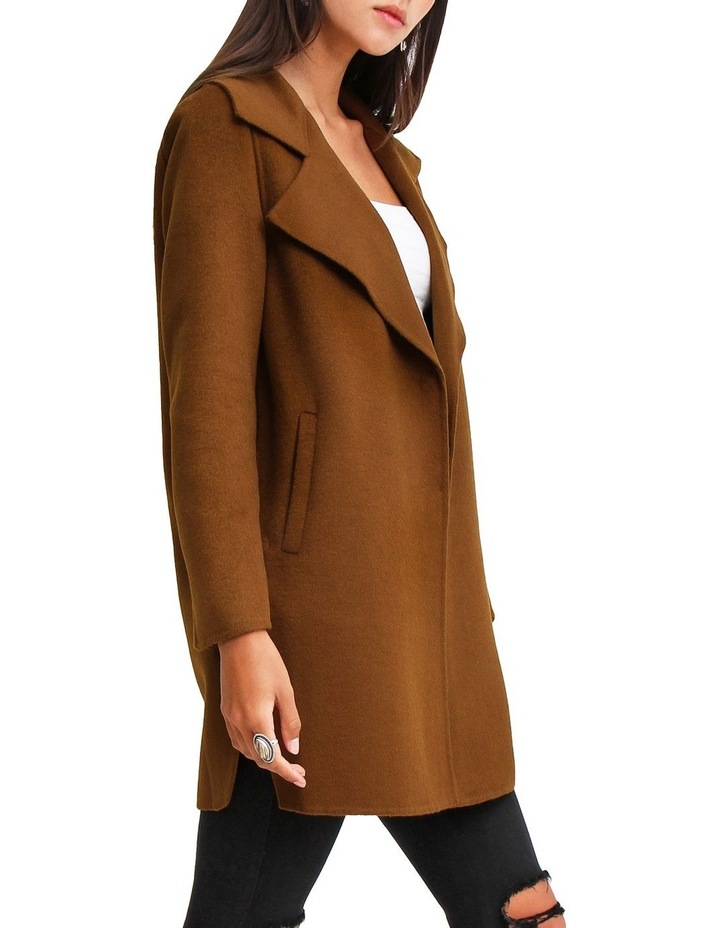 Ex-Boyfriend Dark Camel Wool Blend Oversized Jacket image 2