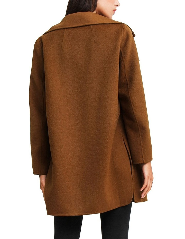 Ex-Boyfriend Dark Camel Wool Blend Oversized Jacket image 3
