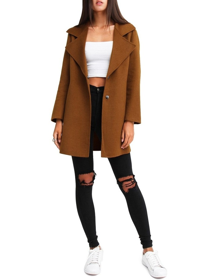 Ex-Boyfriend Dark Camel Wool Blend Oversized Jacket image 5