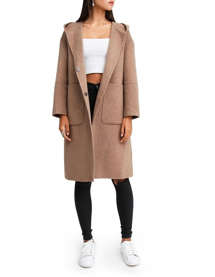 Walk This Way Oat Wool Blend Oversized Coat image 1
