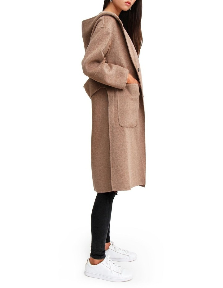 Walk This Way Oat Wool Blend Oversized Coat image 2