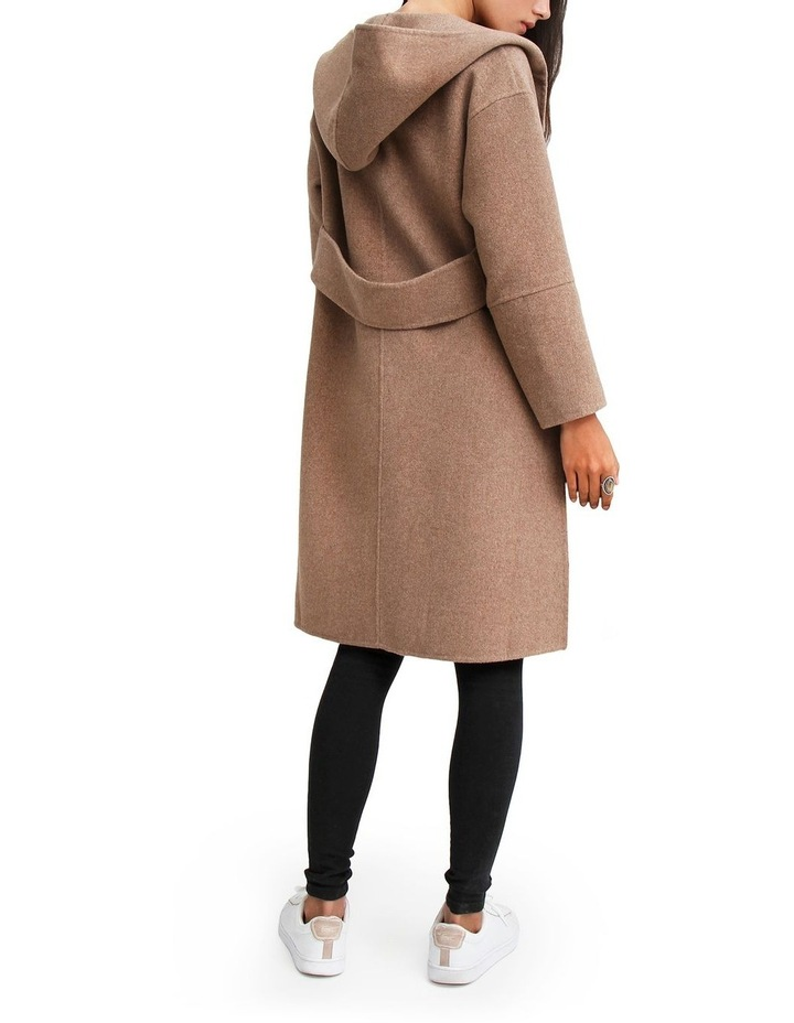 Walk This Way Oat Wool Blend Oversized Coat image 3