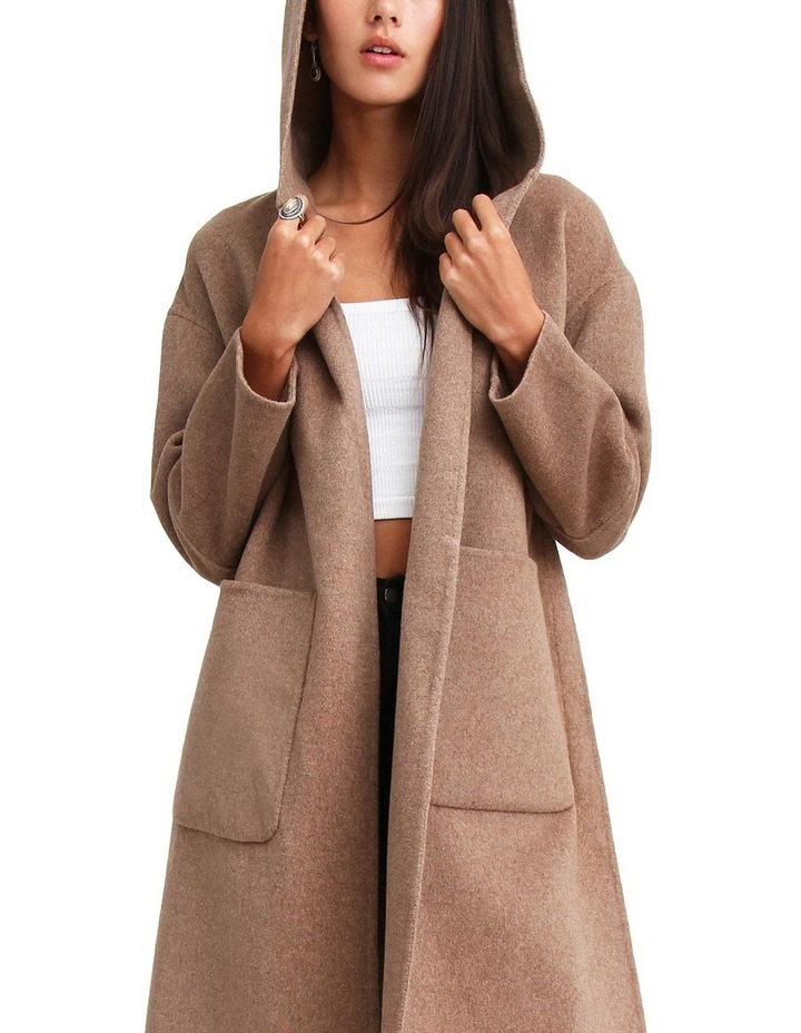Walk This Way Oat Wool Blend Oversized Coat image 5