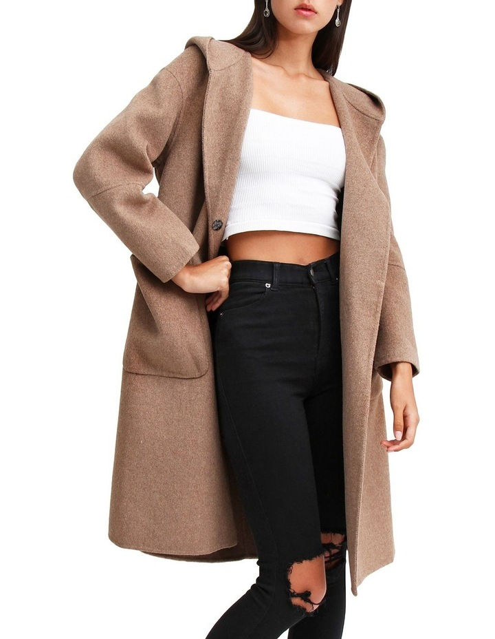 Walk This Way Oat Wool Blend Oversized Coat image 6