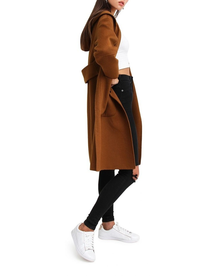 Walk This Way Dark Camel Wool Blend Oversized Coat image 2