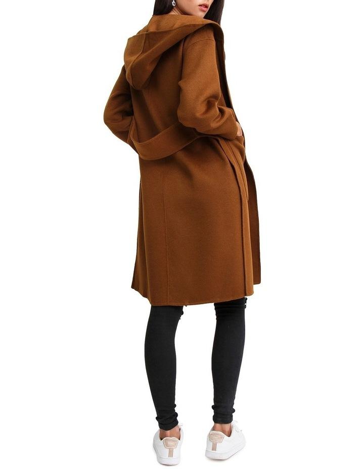 Walk This Way Dark Camel Wool Blend Oversized Coat image 3
