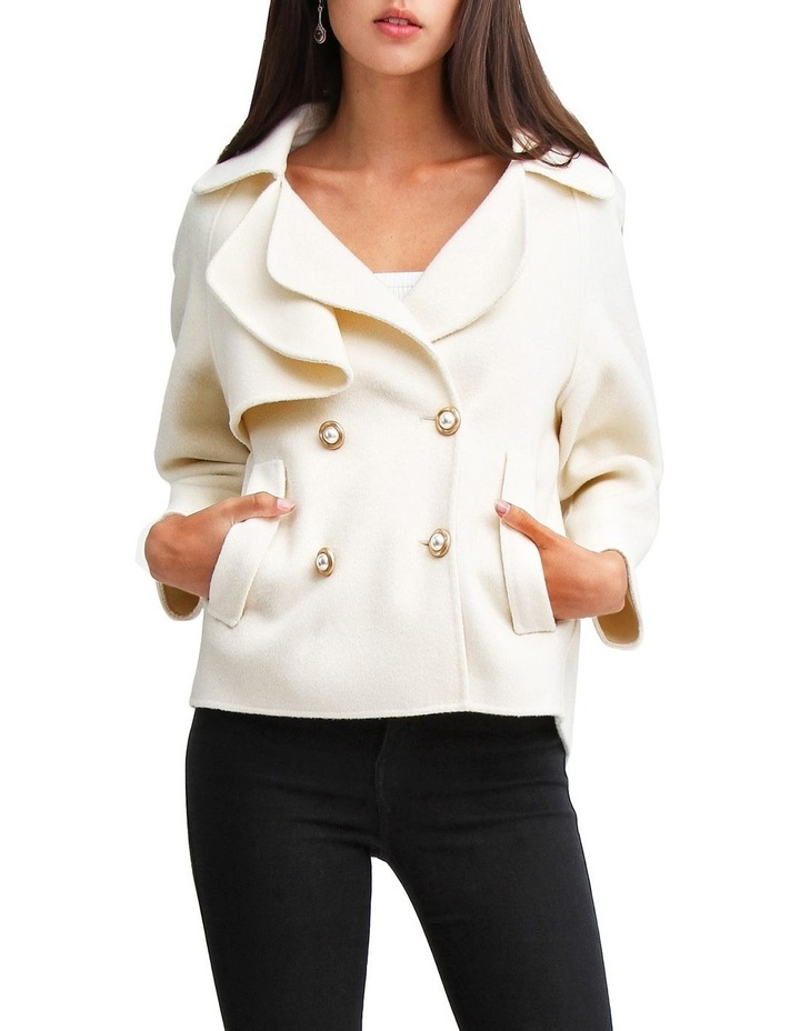 I'm Yours Cream Wool Blend Peacoat image 1