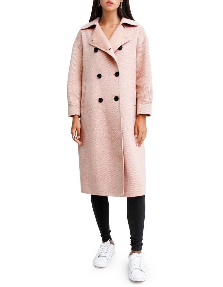Dream Lover Loose Fit Dusty Rose Blend Coat image 1