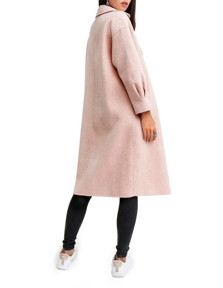 Dream Lover Loose Fit Dusty Rose Blend Coat image 3