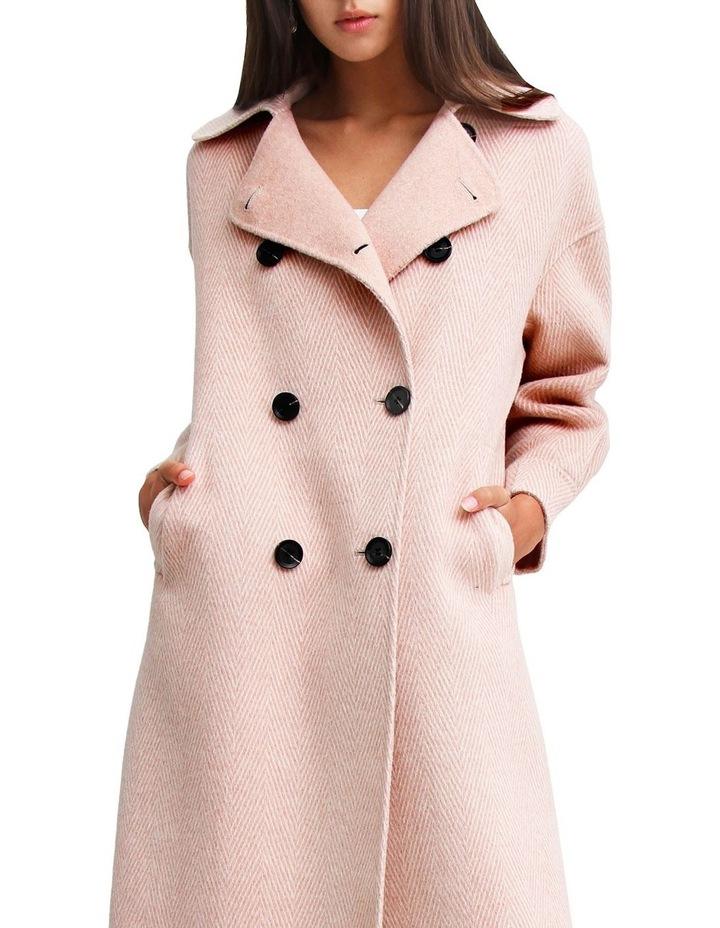 Dream Lover Loose Fit Dusty Rose Blend Coat image 5