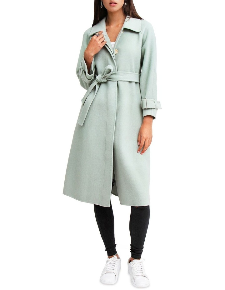 Shore To Shore Belted Wool Coat STS300MINT image 1