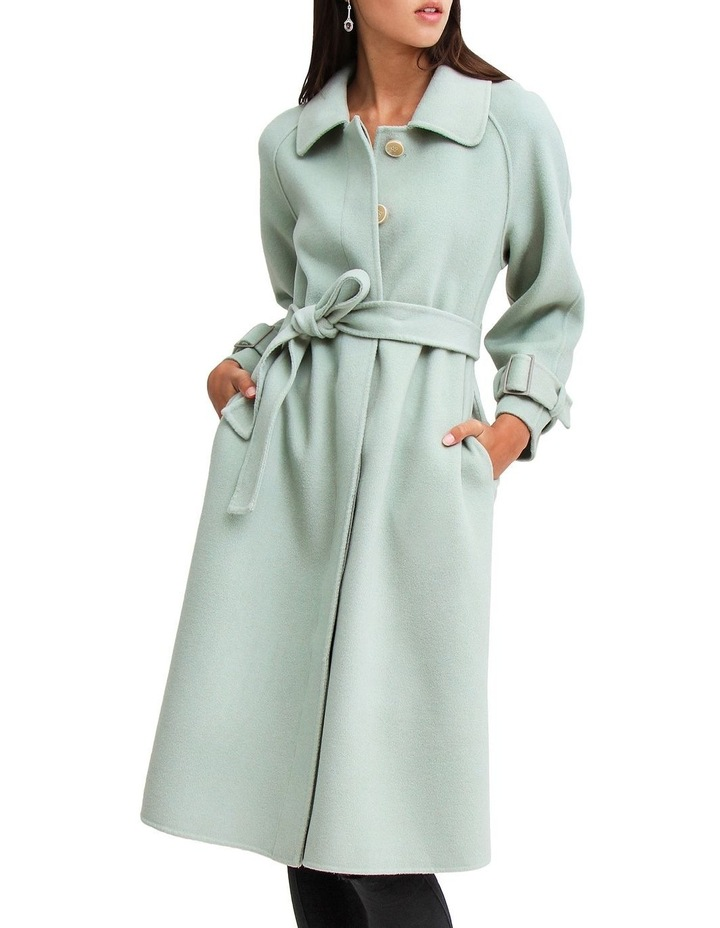 Shore To Shore Belted Wool Coat STS300MINT image 5