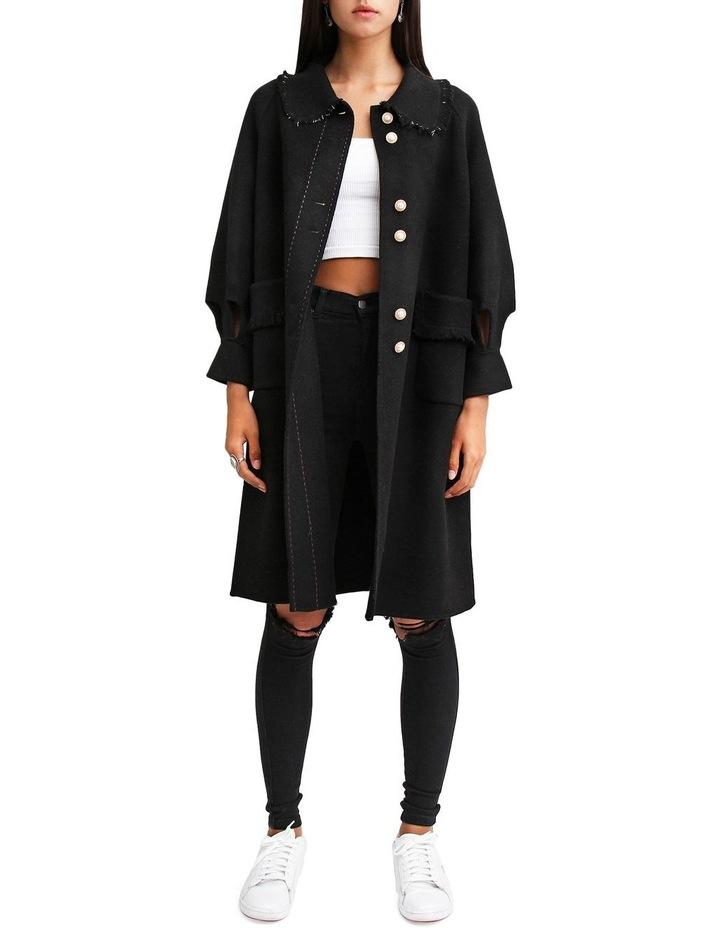 Lived In Love Black Wool Blend Coat image 1