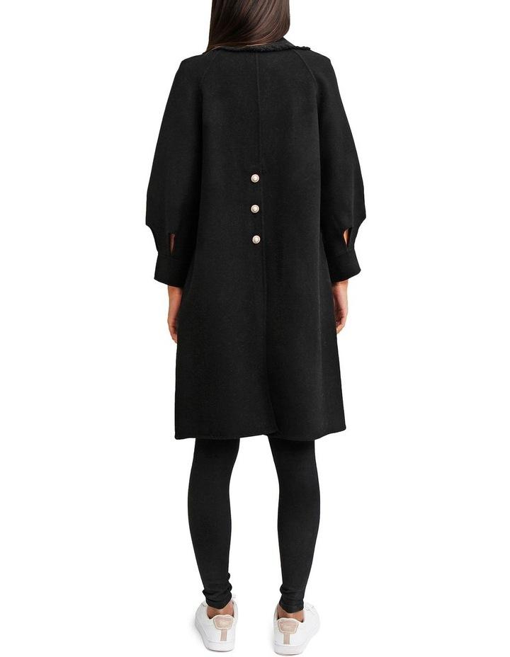 Lived In Love Black Wool Blend Coat image 3
