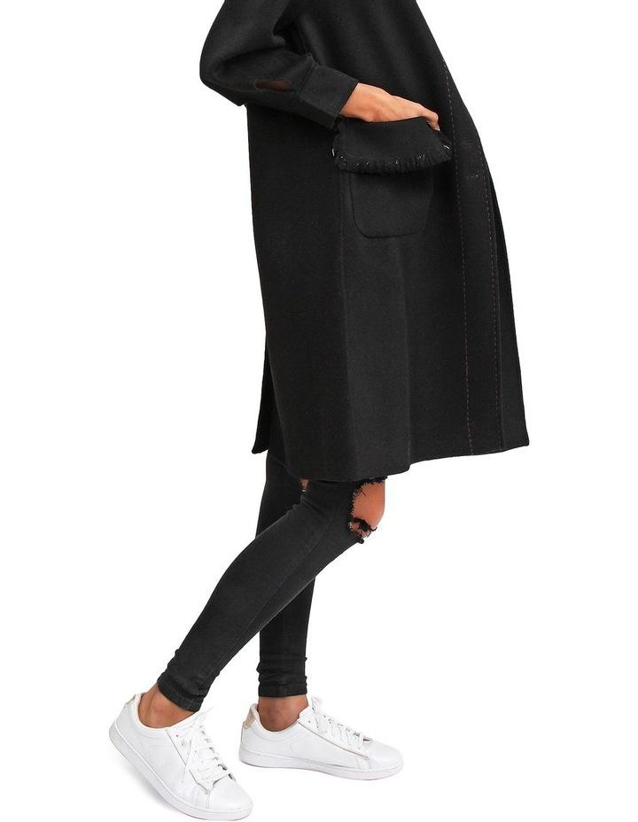 Lived In Love Black Wool Blend Coat image 5