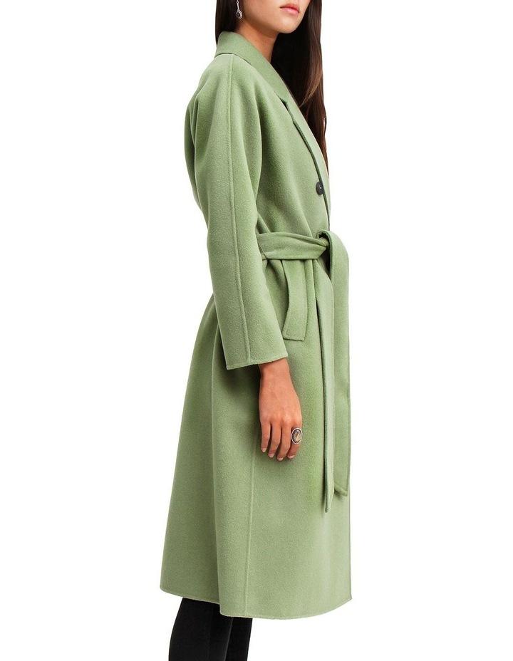 Boss Girl Double-Breasted BOGI100KIWI Wool Coat image 2