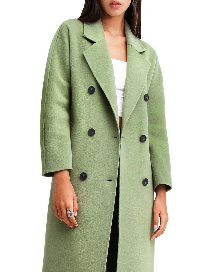 Boss Girl Double-Breasted BOGI100KIWI Wool Coat image 4