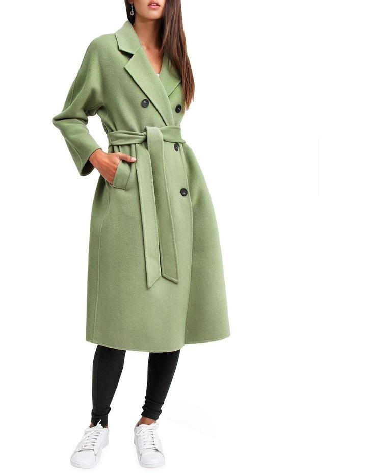 Boss Girl Double-Breasted BOGI100KIWI Wool Coat image 5