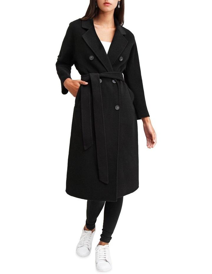 Boss Girl Double Breasted BOGI200BLK Black Wool Coat image 1
