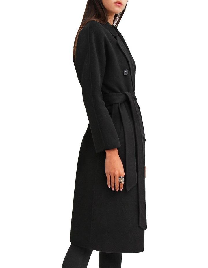 Boss Girl Double Breasted BOGI200BLK Black Wool Coat image 2