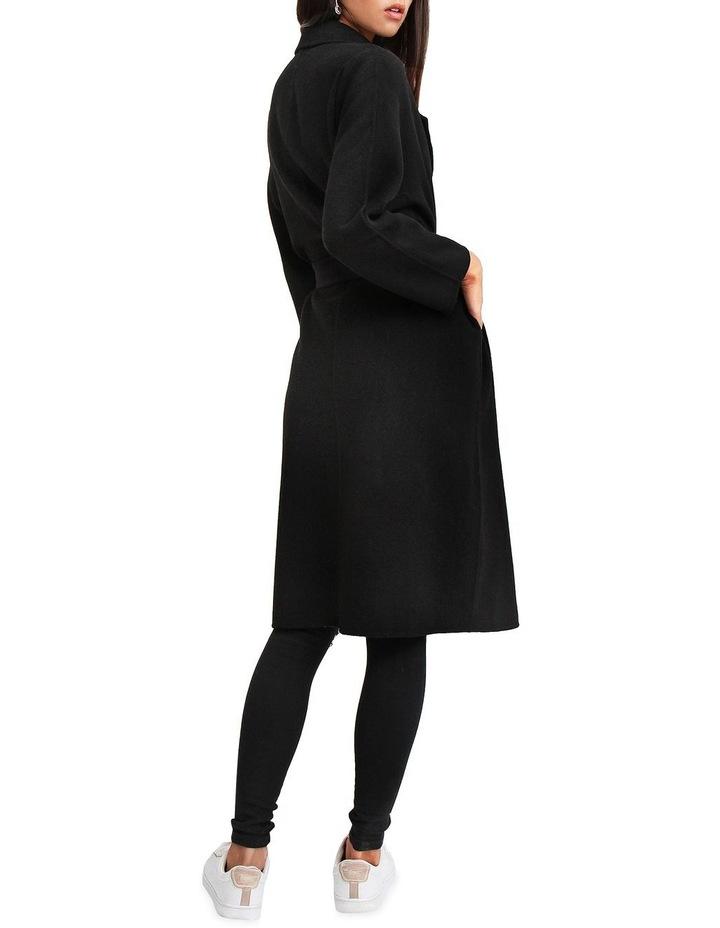Boss Girl Double Breasted BOGI200BLK Black Wool Coat image 3