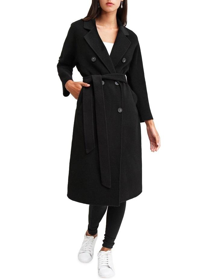Boss Girl Double Breasted BOGI200BLK Black Wool Coat image 5