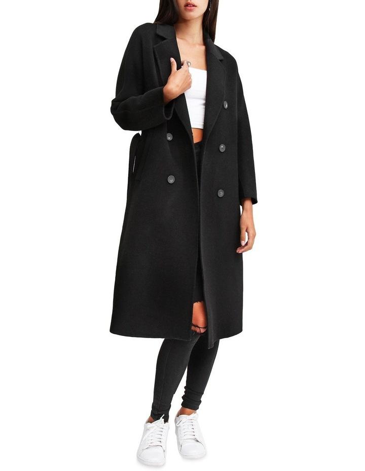 Boss Girl Double Breasted BOGI200BLK Black Wool Coat image 6