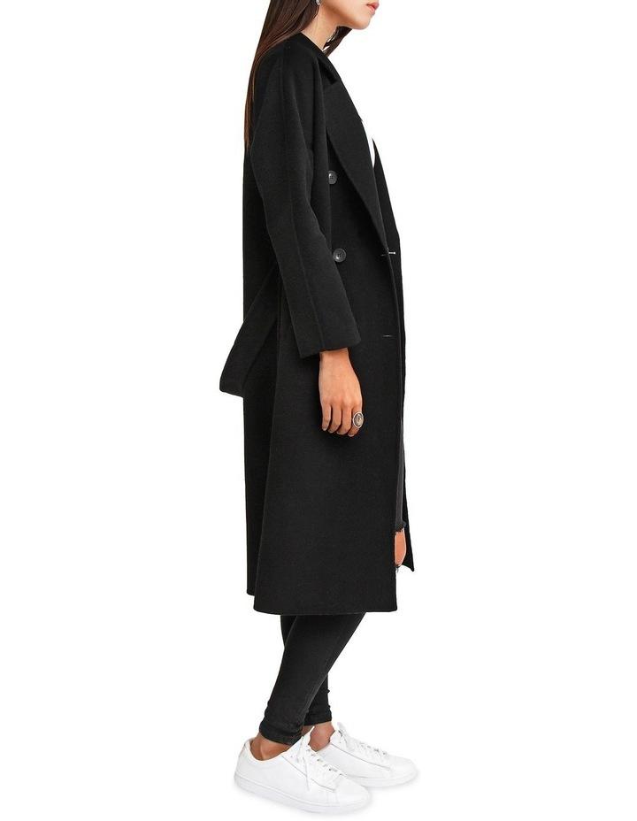 Boss Girl Double Breasted BOGI200BLK Black Wool Coat image 7