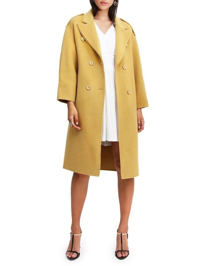 Aussie Sky Saffron Double-Breasted Wool Coat image 1