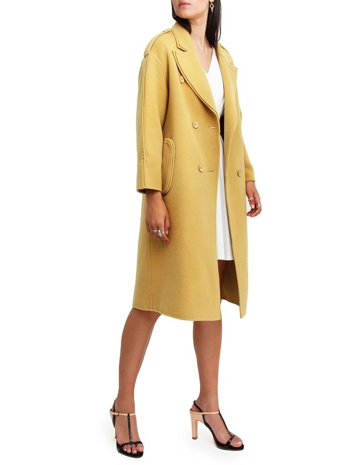 Aussie Sky Saffron Double-Breasted Wool Coat image 2